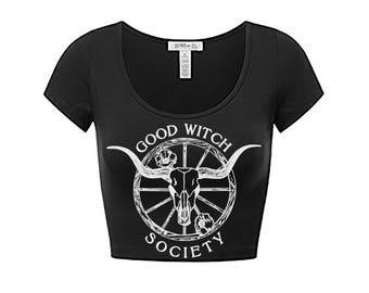 Good Witch Shirt - Witch Shirt - Witch Tee Shirt - Witch TShirt - Witch T Shirt - Witch Crop Top Tee // Boho Clothing - Bohemian Clothing