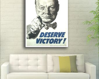 Deserve Victory! Winston Churchill - United Kingdom - 1945