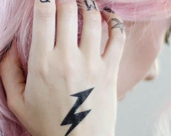 Lightning Bolt Temporary Tattoo