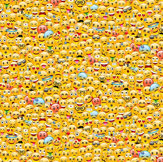 Packed emoji fabric 21840 52 you choose size northcott for Emoji fabric