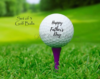 FATHER'S DAY, Happy Father's Day golf balls, custom golf balls, gift for dad, grandpa, Grandpa golf, Father's Day gift, golf gift for dad