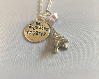 Together in Paris Necklace — Anastasia broadway — Anastasia musical — jewelry Theater lover gift — Eiffel tower