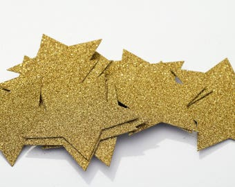 Glitter Cardboard Stars - Choose Your Sizes: 10 Small, 5 Medium, 3 Large or 1 Extra Large