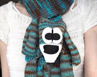 Blue Dog Knit Scarf