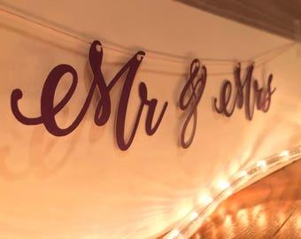 Mr & Mrs Banner * Wedding Banner
