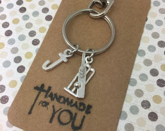 Cricket Gift, Cricket themed gifts, Cricket Keyring, Cricket Keychain, Tennis Fan, Hobby Gifts