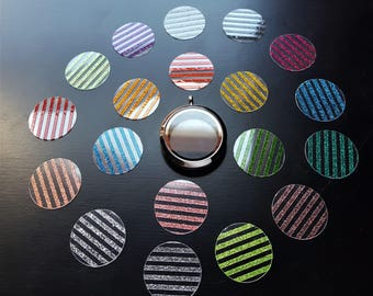 Large Color Stripe Clear Window Plate-Choose from 19 Colors-Fits 30mm (Large) Lockets-Gift Ideas