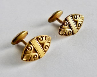 Antique Victorian Gold Plated Shank Style Cufflinks
