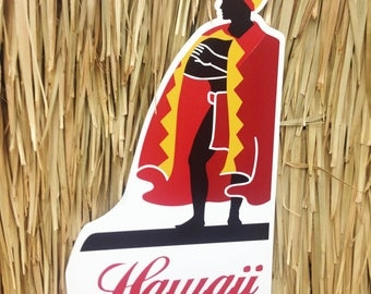 king kamehameha UV Printed Hawaii Sign