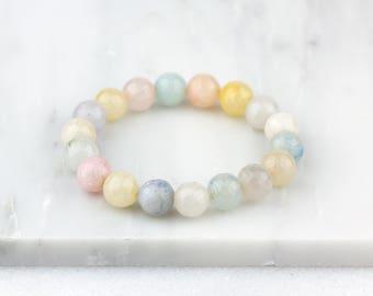 Pastel Bracelet, Pastel Jewelry, Beaded Bracelet, Pastel Boho Bracelet, Pink Bracelet, Friendship Bracelet