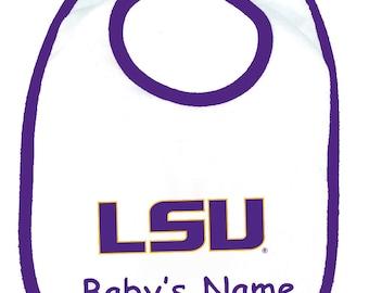 LSU Tigers Personalized Baby Bib