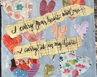 Mixed Media Heart Collage