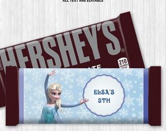 Queen Elsa Chocolate Bar Wrapper
