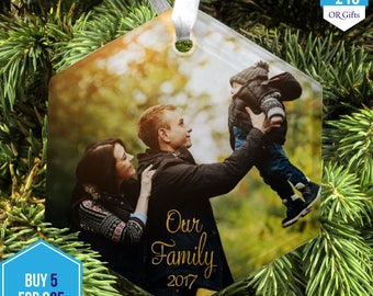 SALE!!! Glass Photo Christmas Decoration (Hexagon) - ANY photo, ANY text - ideal for memories and loved ones, remembrance and celebration