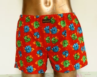Shorts underpants for men,  printed cotton, one size