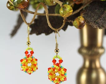 Corona Caribbean Beadwoven Earrings (COR-1)