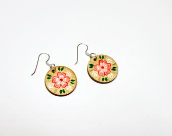 Amoreena Hand Painted Wood Earrings
