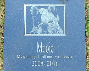 Pet Memorial Stone - Custom - Use Your Own Photo and Text