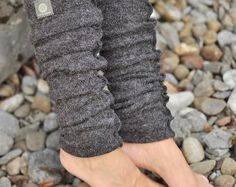 Leg Cuffs Gaiters *Catori* - Spirit - Grey - Overlock - Angora - Jersey - Winter - Autumn - Wool - Psyfashion - Streetwear - warm - Festival