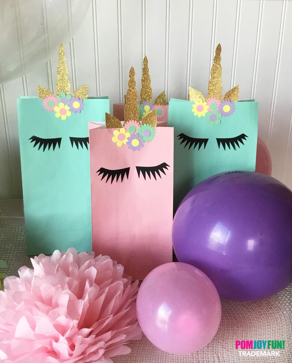 Unicorn Treat Bag Treat Bag Decor Unicorn Birthday Party