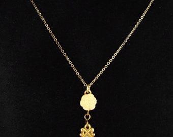 1920-30s - French Art Deco / Vintage Celluloid Pendant / Necklace