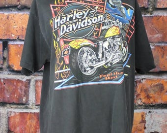 Feel the Heat Harley-Davidson Athens Georgia Vintage 1995 T-Shirt