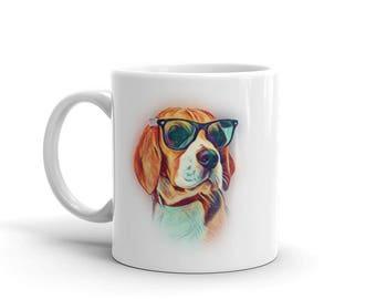 Beagle Mug, Beagle, Beagle Gift, Beagle Sunglasses, Beagle Coffee Mug, Beagle Gifts, Beagle Lover Gift, Beagle Cup, Beagle Lover, Dog Mug