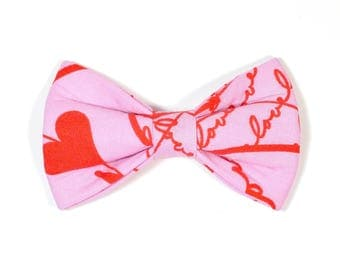 SALE, Size Small Ready to Ship Valentines Dog Bow Tie, pet bow tie, collar bow tie, wedding bow tie