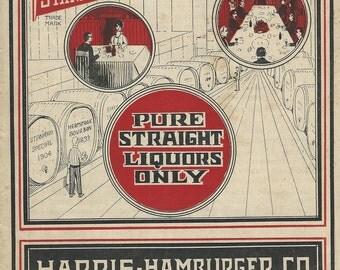 harris hamburger co wine liquors catalog 1916 advertising pg 1-5 download