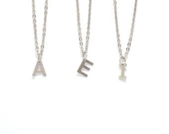 Letter necklace, initial necklace, Personalized jewelry, necklace, personalized necklace, bridesmaid gift, monogram jewelry
