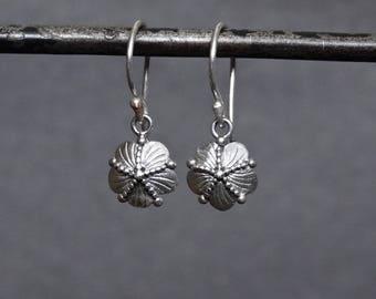 Silver Earrings, Silver Drops, Star Fish Earrings, Flower Earrings, Everyday Earrings, Gift for Her, Little Earrings, Sterling Silver, 925