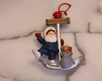 Vintage Sailor Santa Clause Christmas Ornament hanging ornament by Ed Seale 1991