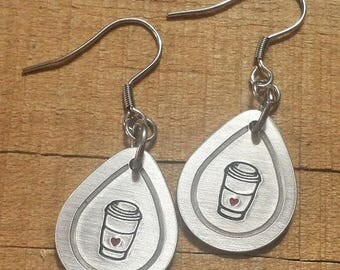 Coffee Gift - Coffee Earrings - Gift for Coffee Drinker - Coffee Accessories - Coffee Jewelry - Java Earrings - Java Gift - Java Jewelry
