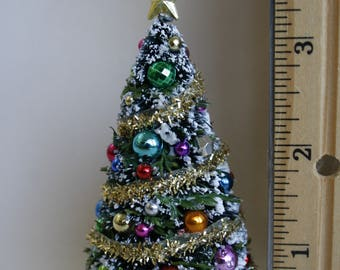 124 miniature dollhouse christmas tree 12 scale for dolls house handcrafted - Tall Christmas Tree