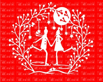 Ice skaters/ice skating svg/png/dxf cricut/silhouette cutting file/ice skate svg/ice svg/skating svg/Christmas svg/stars/winter/snow svg/HTV