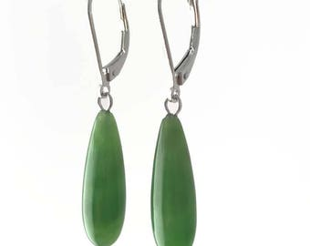 Canadian Nephrite Jade Earrings, 1781-2