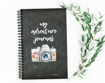 My Adventure Bucket List Journal | Chalkboard | 40 Adventure Layouts | Travel Log | Vacation Notebook | 5.5X8.5 | Wire Bound | Lays Flat