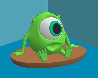 3D Printed Pixar Mike Wazowski LED Lamp