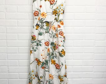 Wide Leg Floral Romper - size small