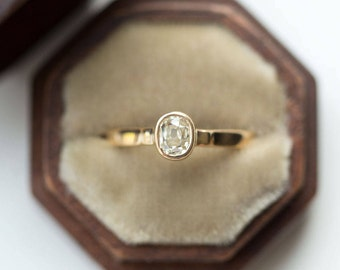 sold vintage diamond ring old cut bezel set antique old mine cut diamond in - Old Wedding Rings