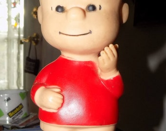 Vintage United Features 1950s Peanuts Linus Doll Toy See Scan 7 Inches Tall See Scan