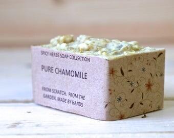 Chamomile Soap - Pure Chamomile Soap, Herbal Soap, Aged Skin Soap, Organic Soap, Natural Soap, Cold Process Soap, Vegan Soap, Handmade Soap