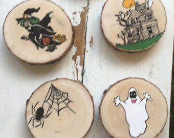 Halloween Coaster set of 6, Halloween decorations, Halloween