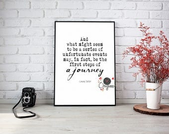LEMONY SNICKET quote-And what might seem-Series of Unfortunate Events-Printable book quote-film quotes-typography-black & white-Inspiring