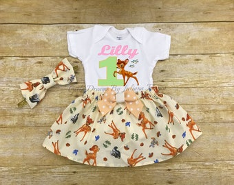 Bambi Birthday Outfit, Bambi Tutu, Personalized Bambi Outfit, Bambi Dress, Bambi Birthday Shirt, Bambi Outfit, Bambi Skirt, Bambi Birthday