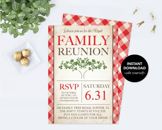 Printable family reunion invitation editable pdf template family il570xn saigontimesfo