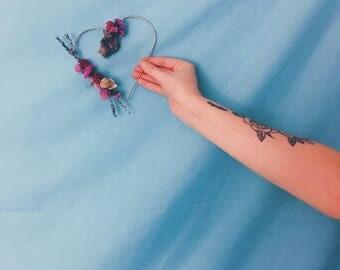 VALENTINE'S GIFT Dried Wildflower Wreath - MINI