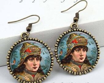 Joan of Arc Earrings, Catholic Saints, Bravery, Strong Women, Catholicism, Female Saints, Joan Gift, Brave Women, Gift for Catholic Woman