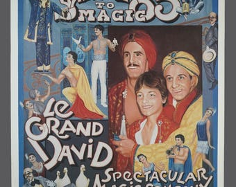 Vintage Salute to Magic 85 Hunter College April 20 Poster Vintage Reproduction Magic Show Poster Illusionist 18.5 x 24.5