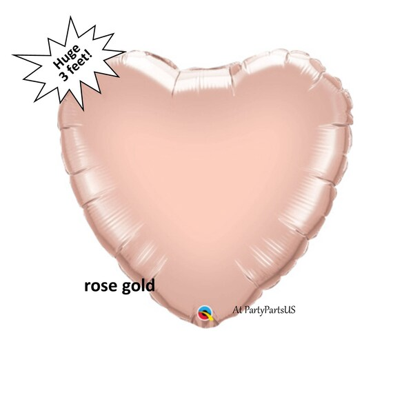 Rose gold heart balloon huge heart wedding decoration bridal il570xn junglespirit Gallery